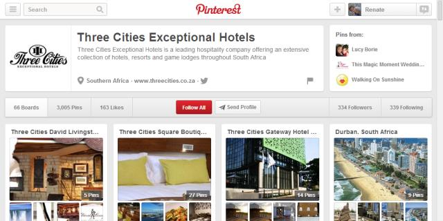 Three Cities on Pinterest